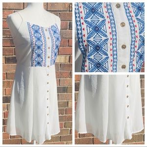 Charming Charlie Americana Embroidered Dress